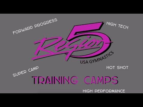 2017 Region 5 Hot Shot Gymnastics Training Camp   Conditioning   Suspension Strength Training