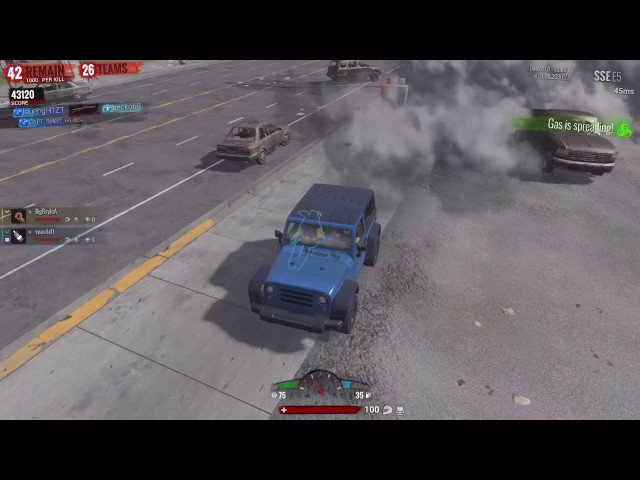 [H1Z1] hahaha the smoke is on the car:D