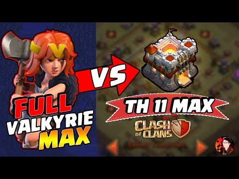 Serangan FULL VALKYRIE MAX melawan TH 11 MAX! - CoC Indonesia