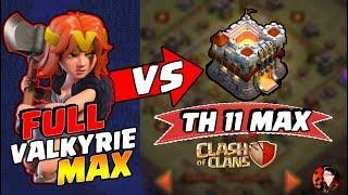 Serangan FULL VALKYRIE MAX melawan TH 11 MAX! - CoC Indonesia