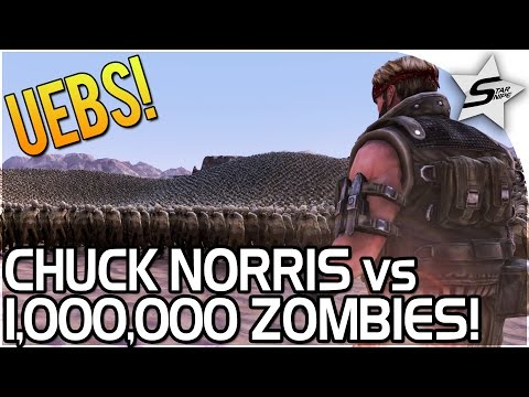 1,000,000 ZOMBIES vs CHUCK NORRIS!! - Ultimate Epic Battle Simulator Game Gameplay - UEBS Gameplay