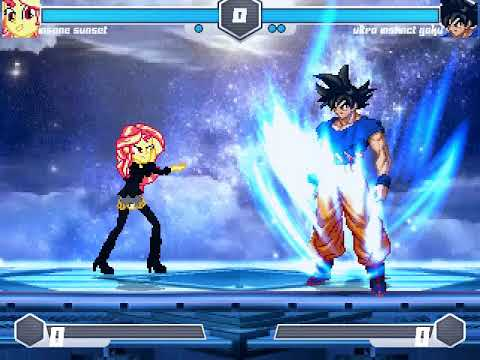f4465eb7415 MUGEN Fighting is Magic - Insane Sunset shimmer VS Ultra instinct Goku