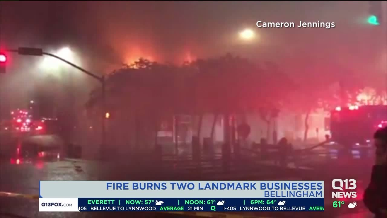 Fire burns two landmark businesses in Bellingham