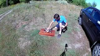 Первый запуск квадрокоптера Зины