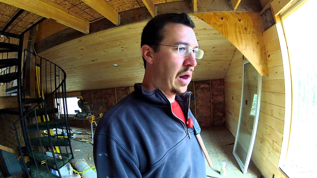 Installing Tongue And Groove Pine On The Walls Part 3 Youtube