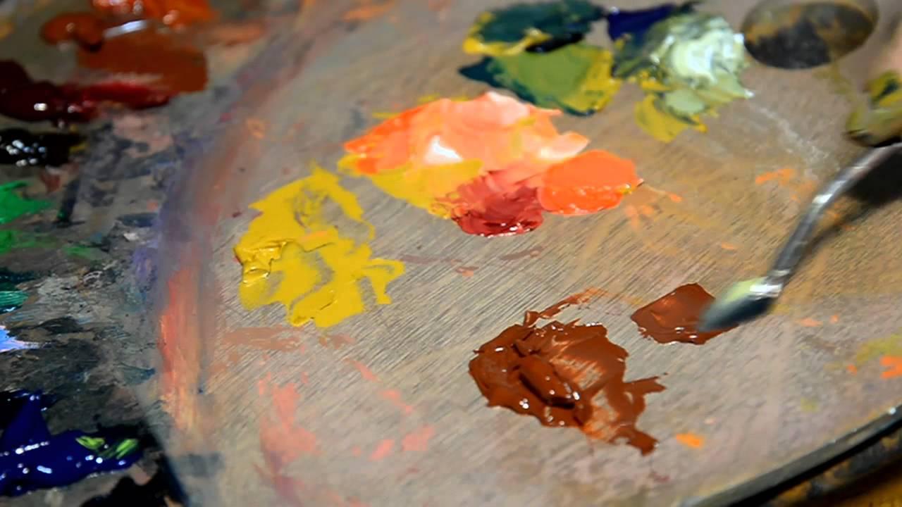 Mezcla colores ocre y siena tostada youtube for Como hacer el color gris en pintura