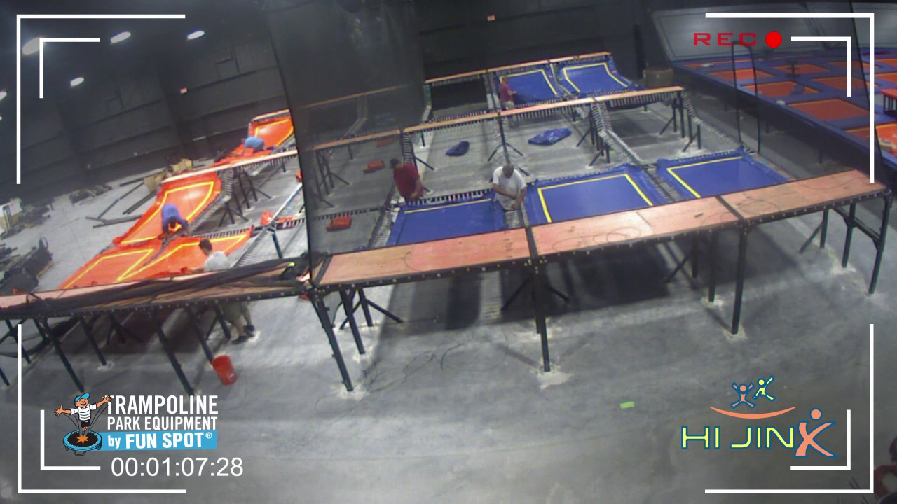 Hijinx Trampoline Park Installation By Funspot [time Lapse