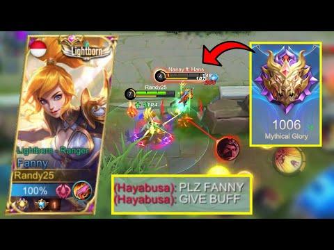 FANNY AGGRESSIVE MODE IN MYTHIC 1000? EZ | Mobile Legends