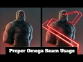 Darkseid Omega Beam Usage