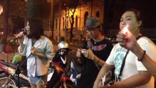 Vô cùng -Minh Uyên ft 3G band ( acoustic đường phố)