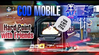 Playing Hard point with Friends  | Ak117 | MF Gaming | COD MOBILE |