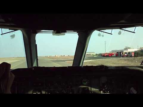 RAF VC10, XV107, Taxy and Take-off, RAF Akrotiri, from Flight Deck