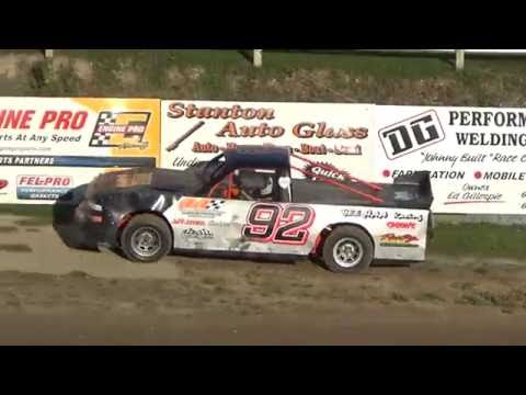 Pro Truck Heat Race at Great Lakes Nationals, Crystal Motor Speedway on 09-17-16.