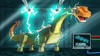 Crazy Minecraft - CREATING NEW DINOSAURS! (Jurassic World)