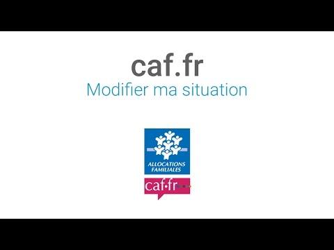 Les tutos Caf : Modifier ma situation