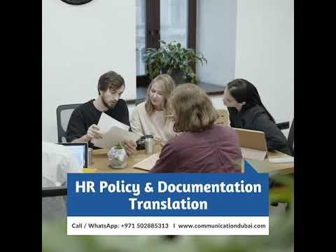 HR Policy and Documentation Translation in Dubai UAE