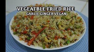 Garlic Ginger Vegan Vegetable Fried Rice Recipe