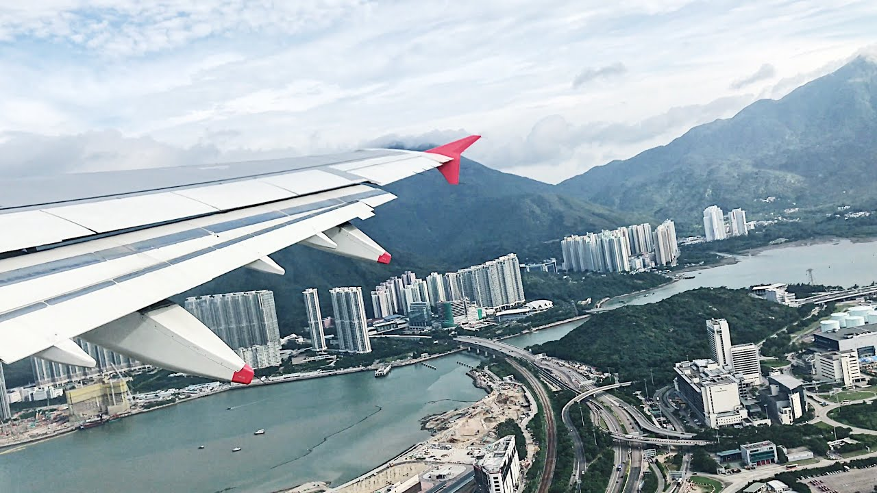 Cathay Dragon A321 SCENIC TAKE OFF in Hong Kong International Airport