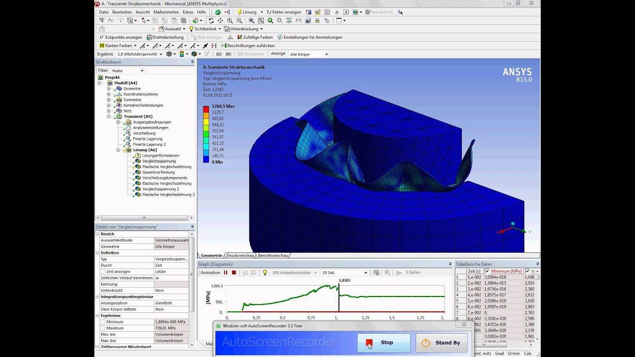 Ansys Workbench Deep Drawing Example 3