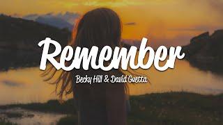 Becky Hill, David Guetta - Remember (Lyrics)
