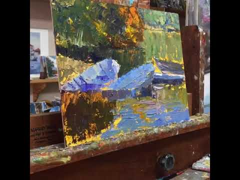 Landscape painting demo Dinghies at Mammoth Lake