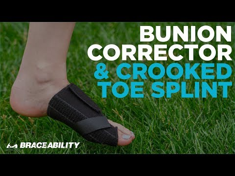 BraceAbility Bunion Corrector: How To Treat A Crooked Big Toe & Fix Hallux Valgus Without Surgery