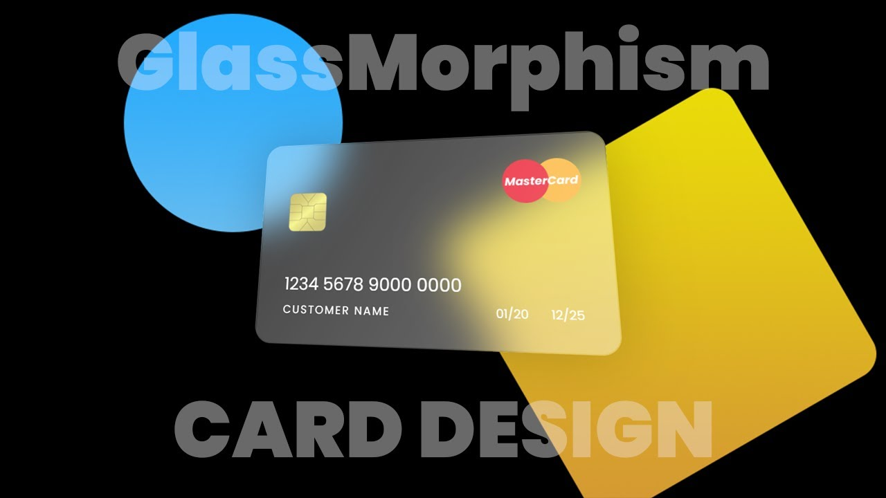 Card Design with Glassmorphism Effect   HTML CSS Glass Morphism Effects