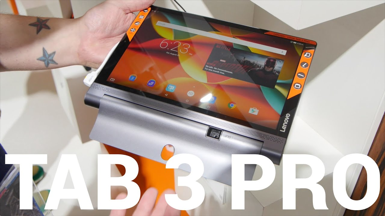 Lenovo Yoga Tab 3 Pro hands-on from IFA