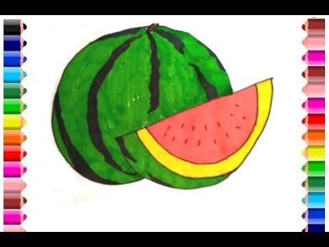 Cara Menggambar Semangka Drawing Watermelon Mp3 Hitz Free Download