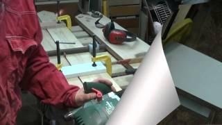 Фугование кромок под склейку - фрезером
