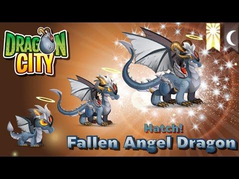 [Dragon City] ผสม + ฟักไข่มังกรเทวดาตกสวรรค์ Breed + Hatch Fallen Angel Dragon   amSiNE