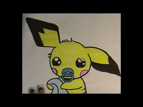 DRAW a Chibi PICHU Who Needs a Nap! Pokemon No. 172 ...