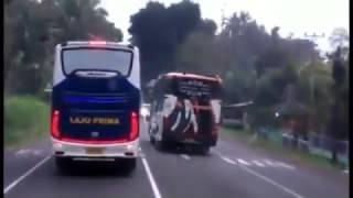 Aksi Kejar Kejaran Bis Agra Mas, Po.Haryanto dan Laju Prima Di Semarang!