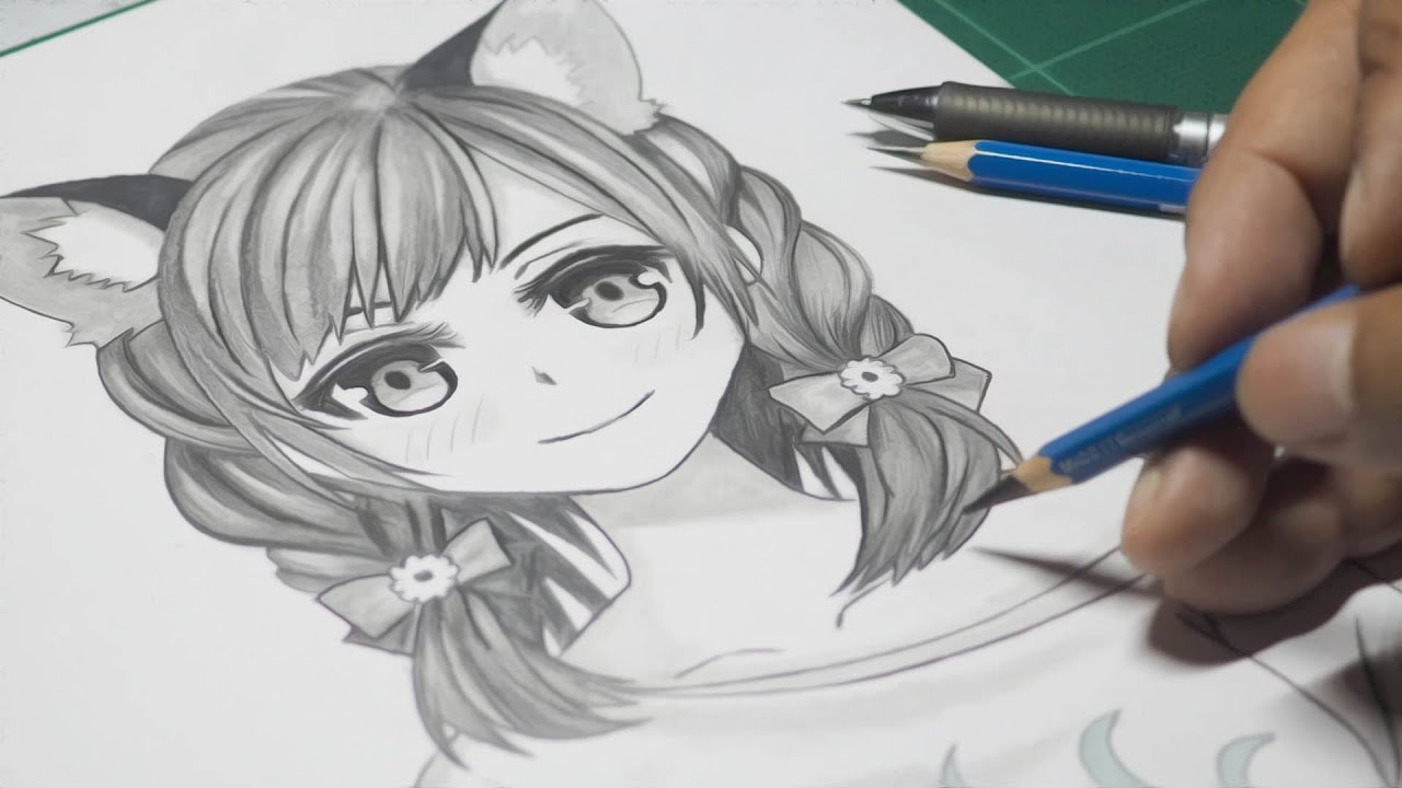 How To Draw a Cute Anime Wolf Girl [Anime Drawing Tutorial]