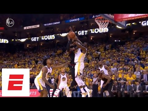 Draymond Green catches LeBron James in face on drive, picks up tech [Game 1, 2018 NBA Finals] | ESPN