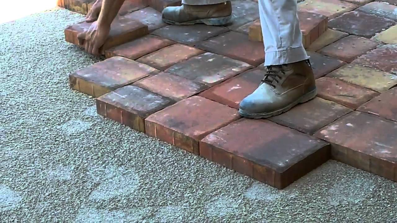installing pavers on a driveway youtube. Black Bedroom Furniture Sets. Home Design Ideas