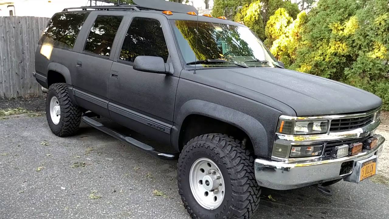 1994 Suburban 6 5 Diesel With Raptor Liner Youtube