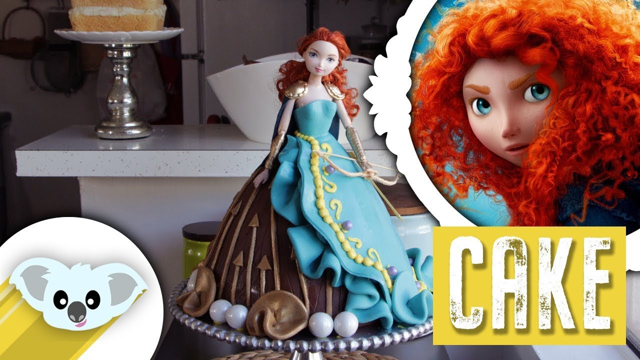 Princess Merida Doll Cake