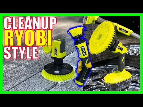 NEW Ryobi Power Scrubbers Review - EZ Cleaning [WORKS UNDERWATER]