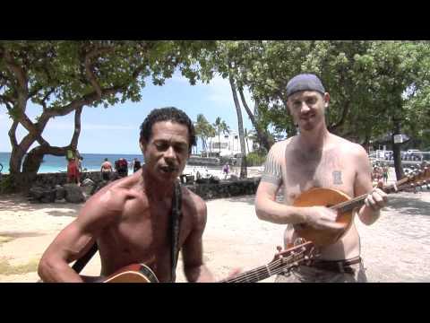Magic sands beach - Johnny Garcia and Blair sing Folsom Prison.mov