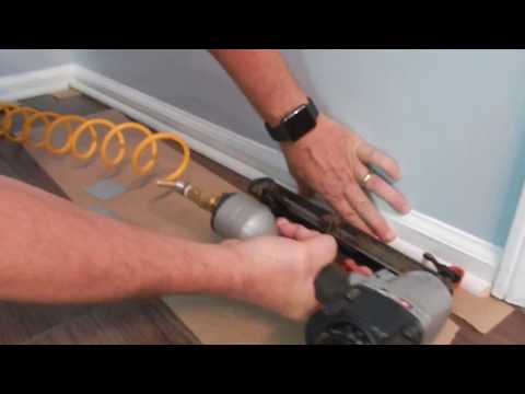 Installing shoe moulding