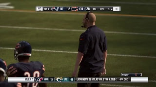 Madden 2019 franchise mode Week 7 New England patriots vs Chicago Bears