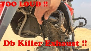 Amazing Local Modification Exhaust Sound IN Nepal | With & Without DB killer | Motovlog | Kathmandu