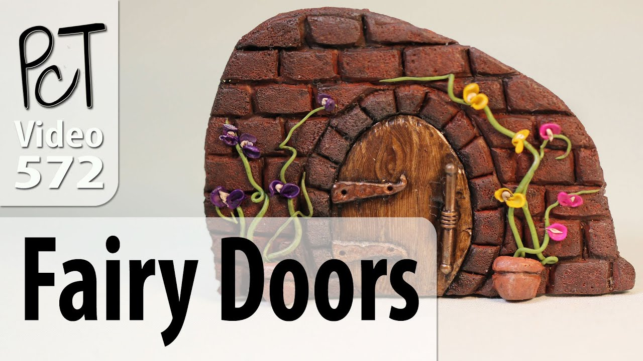 Polymer clay fairy doors tutorial intro vol 077 youtube How to make a fairy door out of clay