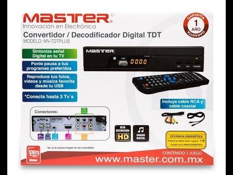 Decodificador Master Para Señales De Tv Abierta Youtube