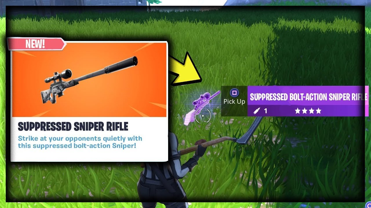 The New Suppressed Bolt Action Sniper Rifle In Fortnite Youtube