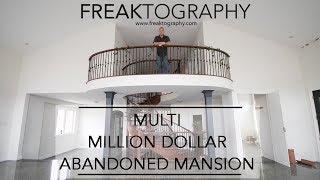 Urban Exploring Abandoned Multi Million Dollar Abandoned Mansion | 3 Car Garage and Flooded Basement