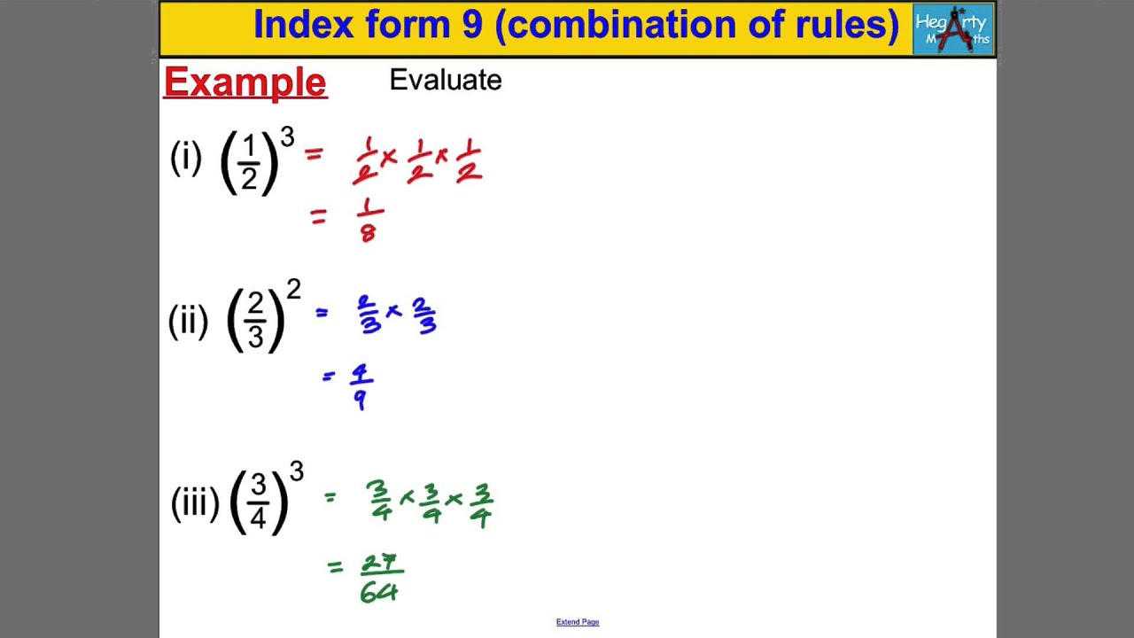 Index form 9 (combination of rules) - YouTube