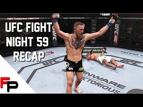 UFC Fight Night 59 Recap - Conor McGregor vs. Dennis Siver