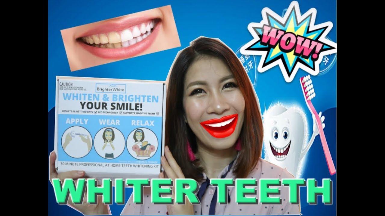 How I whiten my teeth using BRIGHTER WHITE | Jacky Navarro